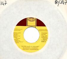 SMOKEY ROBINSON disco 45 giri USA Ever had a dream + Cruisin 1979 TAMLA 54306
