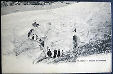 FRANCE ~ 1900's CHAMONIX ~ GLACIER DES BOSSONS ~J.J. ~ ICE CLIMBING ~ CREVASSE