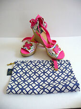 Milly for SperryTop-Sider New Espadrille Wedge Sandals Palm Beach Confetti Sz 9B