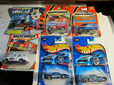 Lot Of 6 New Cars: Early 2000: Hotwheels, Matchbox And Kellogg'S
