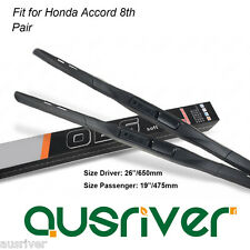 "Fit for Honda Accord 8th Pair Frameless 26""/19"" Quiet Wiper Blades Brand New"