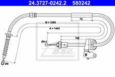 Seilzug, Feststellbremse für Bremsanlage Hinterachse ATE 24.3727-0242.2