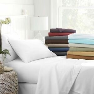 1000 Thread Count Egyptian Cotton AU 4 Piece Bed Sheet Set Solid Color & Size