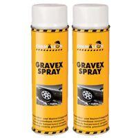 UBS 2 x 500ml Spray Weiß Anti Gravex Schutz Unterbodenschutz Schicht Chamäleon