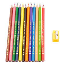 Marco 12 Colors Metallic Non-toxic Drawing Pencils + Pencil Sharpener Art Supply