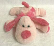 Inter-American Products Pink Puppy Dog Plush Stuffed Animal Heart Bow 8