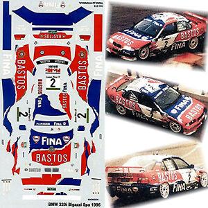 BMW 320i Bigazzi 24H Spa 1996 Bastos Fina #2 Tassin Müller Burgstalle 1:43 Decal