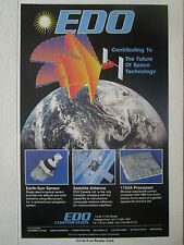 1990-1991 PUB EDO FUTURE SPACE TECHNOLOGY EARTH SUN SENSOR SATELLITE ANTENNA AD