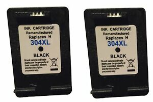 2 Patronen Black HP 304XL kompatibel für HP DJ3720
