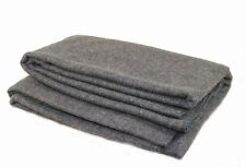 Wool Blanket Made In the USA USGI 66x84 Army Emergency Rescue Survival Grey 80%