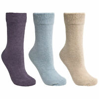 Trespass  Alert Womens Casual Soft Socks Pack of 3 for Hiking Camping