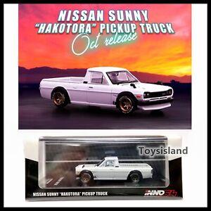 "INNO64 1/64 NISSAN SUNNY "" HAKOTORA "" Pickup Truck White NEW"