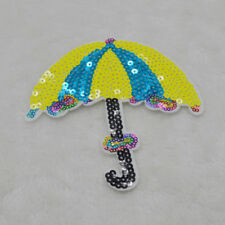 umbrella Embroidered iron on patch sewn applique DIY Repair For Clothing Sequin