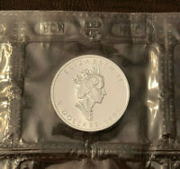 1993 Canada $5 Silver Maple Leaf 1 oz,  .9999 Fine Silver in Sealed Plastic BU