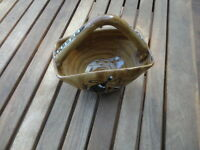 Vintage Italy Hand Made Pottery Basket