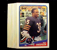 1988 Topps NEAL ANDERSON (RC) ~ 20 CARD LOT ~ CHICAGO BEARS RB ROOKIE CARD