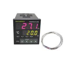 ITC-100RL 12V 24V PID Temperature controller + pt100 relay Probe heater TEMP FAN