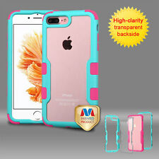 Clear Hard Back Hybrid Shockproof Case Bumper Cover For Apple iPhone 8 7 Plus 7