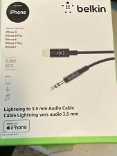 Belkin 3.5mm Audio Cable w/ Lightning Connector BLACK 3 FT