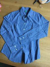 Benetton Damen Bluse Hemd S Blau Gestreift, super Zustand!