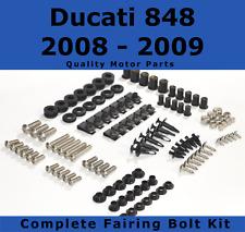 Complete Fairing Bolt Kit body screws fastener Ducati 848 2008 - 2009 Stainless
