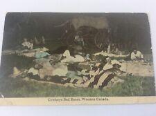 More details for vintage canadian postcard cowboys bedroom western canada by bloom bros winnipeg