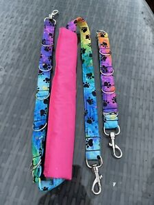 2 Pc Dog grooming belly Restraint / strap & extender set / Rainbow Paws