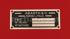 Fiat 500 600 Abarth ID Plate New