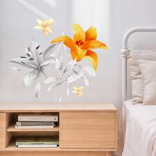 Lirio gradual Flor Calcomanía Pared Adhesivo Mural HAZLO TÚ MISMO extraíble Arte Decoración Del Hogar