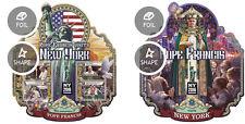 Pope Francis Stamp Show New York 2016 Sierra Leone MNH stamp set ODD SHAPE