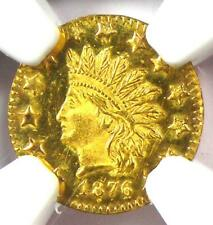 1876 Indian California Gold Half Dollar 50C BG-1065 - NGC MS65 PL - $2,300 Value