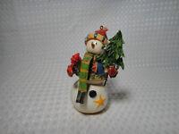 Snowman Christmas Ornament Metal Ceramic