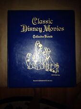 Vintage Set Classic Disney Movies Collector Panels with stamps 1990