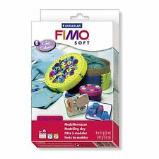 Staedtler Fimo Soft material Set-Cool Colores-Paquete de 6 bloques de 57g X