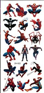 KIDS Temporary Tattoo SPIDER MAN Great for Party Bags Size 9cm x 19cm