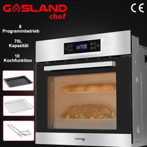 Gasland Chef Einbau-Backofen 70 Liter Elektro Backöfen 10 Heizarten 4D Heißluft