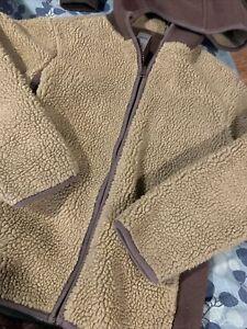 Gymboree Size 7 Boys Brown Faux Fur Winder Coat Zip Up With Hood