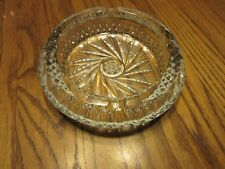 """SET OF 2 CRYSTAL? ROUND ASHTRAY WITH 8-POINT STAR BASE 7.5"""""""