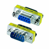 RS232 Serial DB9 Male to Female Mini Gender Changer Coupler Adapter Connector