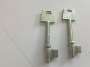 2 x FLEET MORTICE KEY BLANKS- GA- NEW OLD STOCK      (2053)