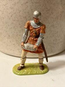Norman Stone Thrower Knight Hausser 1960 Elastolin 7cm 70mm Medieval Siege