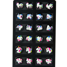 Colorful Mini Unicorn Earrings Glitter Horse Ear Stud Kids Girls Jewelry 8C