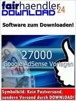 ★27000 HTML TEXT VORLAGEN Website für Google Adsense zum Geld verdienen MRR WOW