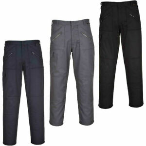 Mens Heavy Duty Action combat trousers Pants Knee Pad Pockets Smart Workwear Trs