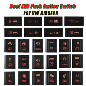 LEFT/RIGHT/TOP For VW Amarok Push Switch A107R LED LIGHT BAR on-off Amber/Red