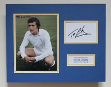 More details for trevor cherry in leeds united shirt hand signed autograph photo mount + coa