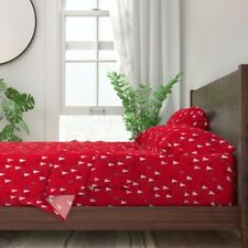 Christmas Tree Winter Season Christmas 100% Cotton Sateen Sheet Set by Roostery