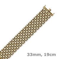 33mm Armband Phantasiekette 7-reihig 585 Gold Rotgold 19cm Armschmuck Armkette