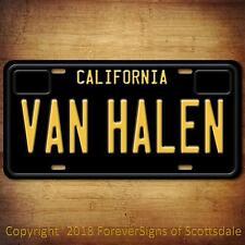 Van Halen Rock Band California Aluminum Vanity License Plate Black