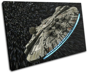 Star Wars Millennium Falcon Gaming SINGLE CANVAS WALL ART Picture Print